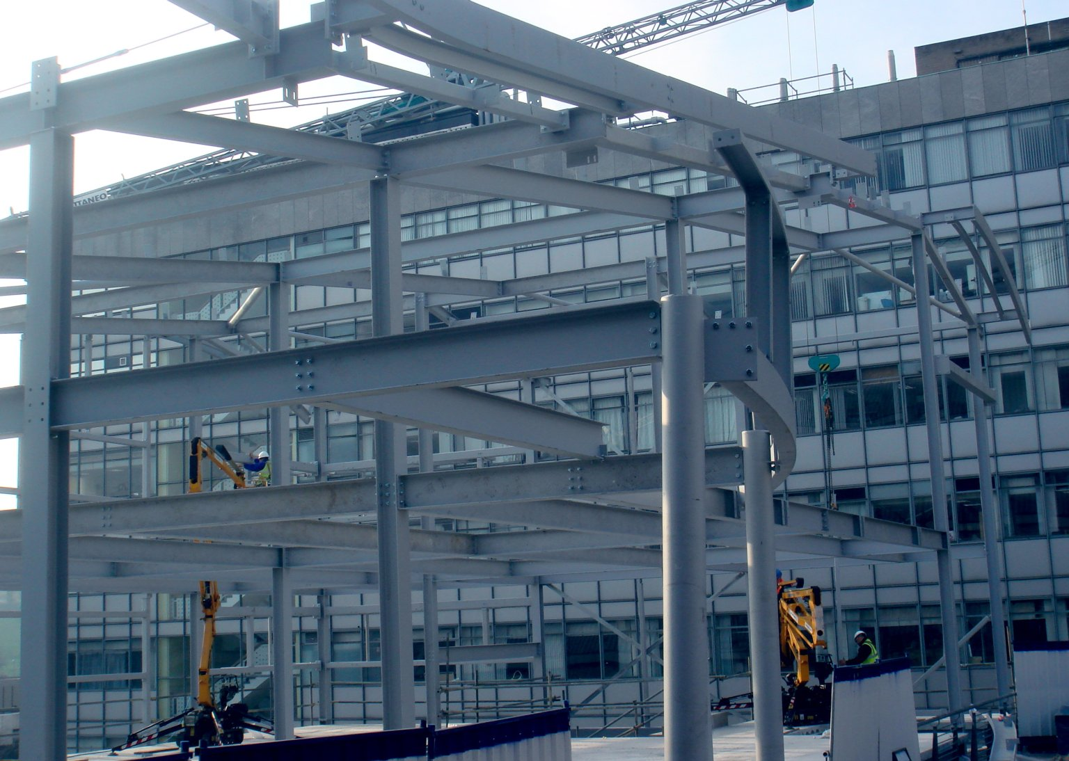 Adsetts Centre extension under construction